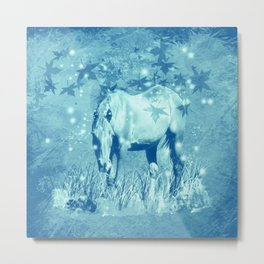 Horse and faerie lights Metal Print