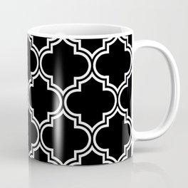 Black Quatrefoil Coffee Mug