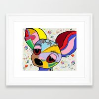 chihuahua Framed Art Prints featuring Chihuahua by EloiseArt