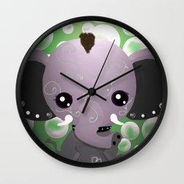 Punky Pachyderm - Green Wall Clock
