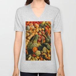 Colorful Autumn Unisex V-Neck