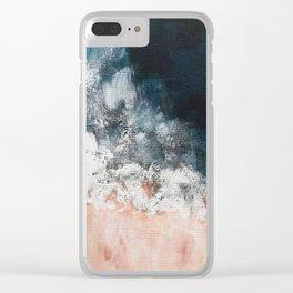 Aerial ocean, coast,  beach, waves, sea, prints, project Clear iPhone Case