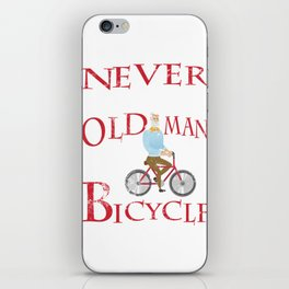 Mens Never Underestimate An Old Man With A Bicycle Gift Grandpas iPhone Skin