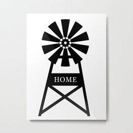 Farmhouse Windmill Metal Print