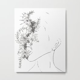 Abstract Flower Girl Metal Print
