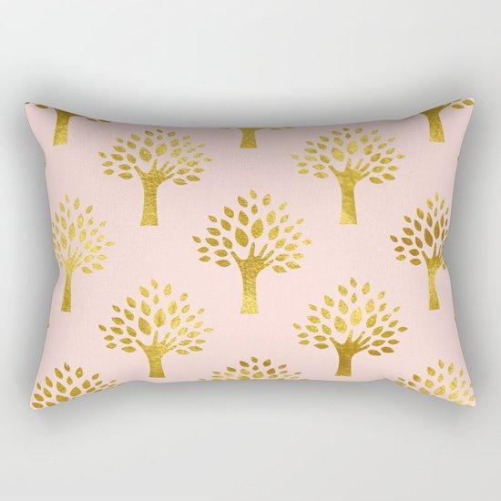 Pink Gold Foil 02 Rectangular Pillow