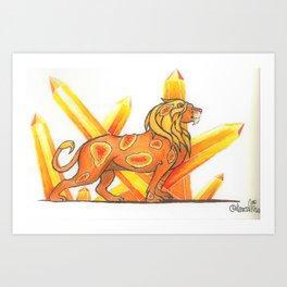 Citrine Lion Art Print