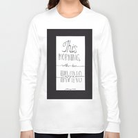 johnny cash Long Sleeve T-shirts featuring Johnny Cash by Kami Sparks