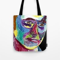 david tennant Tote Bags featuring Tenth Doctor / David Tennant by Siriusreno