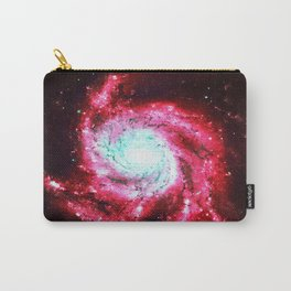Spiral Galaxy Red Aqua Carry-All Pouch