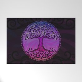 Tree of Life - Hot Pink Welcome Mat