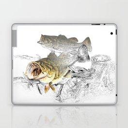 Largemouth Black Bass Fishing Art Laptop & iPad Skin