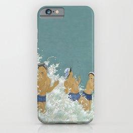 Three Ama Enveloped In A Crashing Wave iPhone Case