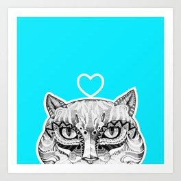 Cat B Art Print