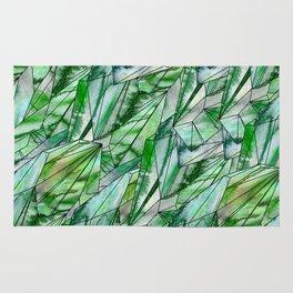 Crystal Emerald Pattern Green Gem 1 Rug