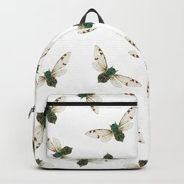 Cicada Jewels (White & Noir) Backpack