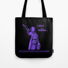 I Aim To Misbehave (Purple) Tote Bag