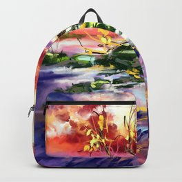 Evening at the beach Backpack