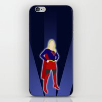 supergirl iPhone & iPod Skins featuring Supergirl by livinginamovie