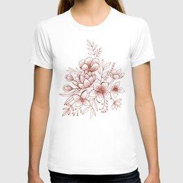 Line Flower Bouquet T-shirt