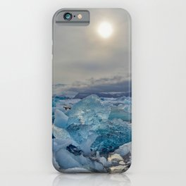 Blue Ice - Jökulsárlón Lagoon iPhone Case
