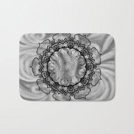 Gray Swirl Mandala Bath Mat