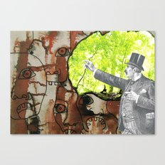 A Lazy Fellow Carries A Burden On His Back Canvas Print