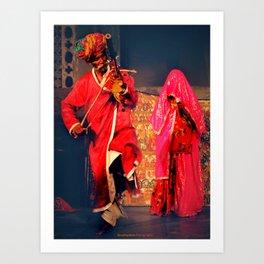 Rajasthani Performers Art Print