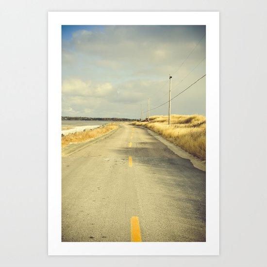 The Road to the Sea Art Print