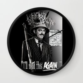 """Gomez Addams-""""Order of the Day"""" Wall Clock"""