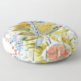 Turtle nest by the Tree Floor Pillow