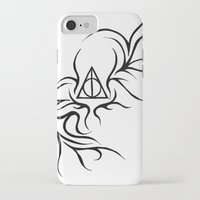 deathly hallows iPhone & iPod Cases featuring Deathly Hallows by Ria-Ra