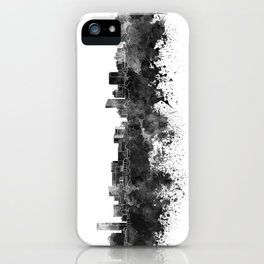 Grand Rapids skyline in black watercolor iPhone Case