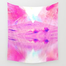Pink Swimming Pool by GEN Z Wall Tapestry