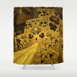 City of Golden Dust Shower Curtain