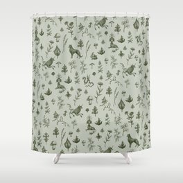 Medieval Dingus Party Shower Curtain
