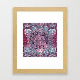 Vintage Boho Burgundy Mandala Framed Art Print