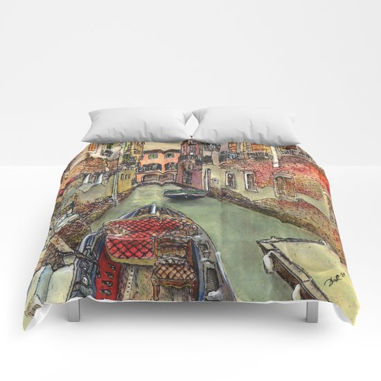 Autumn in Venice Comforters