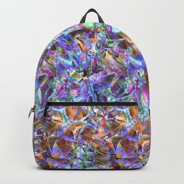 Floral Abstract Stained Glass G268 Backpack