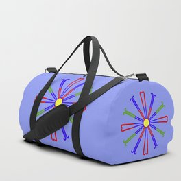 Field Hockey Stick Design Duffle Bag