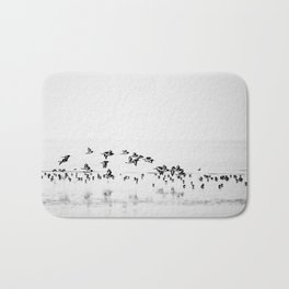 Wading birds in Flight Bath Mat
