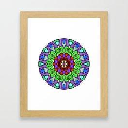 Edgy floral mandala Framed Art Print