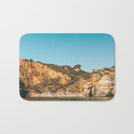 People On Praia do Camilo (Camel Beach) In Portugal, Travel Photo, Large Printable Photography Bath Mat