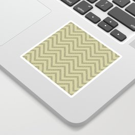 Sketched Mustard Dotted Line Chevrons Sticker