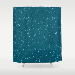 stars in the zodiac (cobalt blue) Shower Curtain