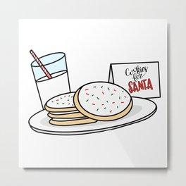 Cookies and Milk for Santa Metal Print