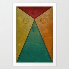 Letter tie Art Print