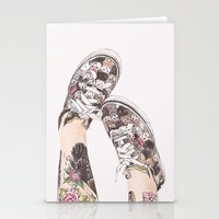 shoes Stationery Cards featuring Shoes by Carlos ARL