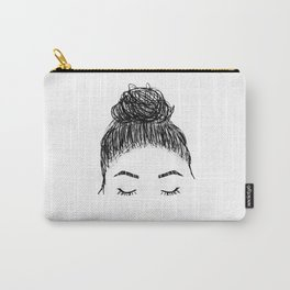 messy girl bun Carry-All Pouch
