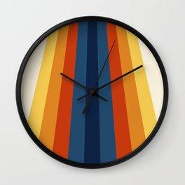 Bright 70's Retro Stripes Wall Clock